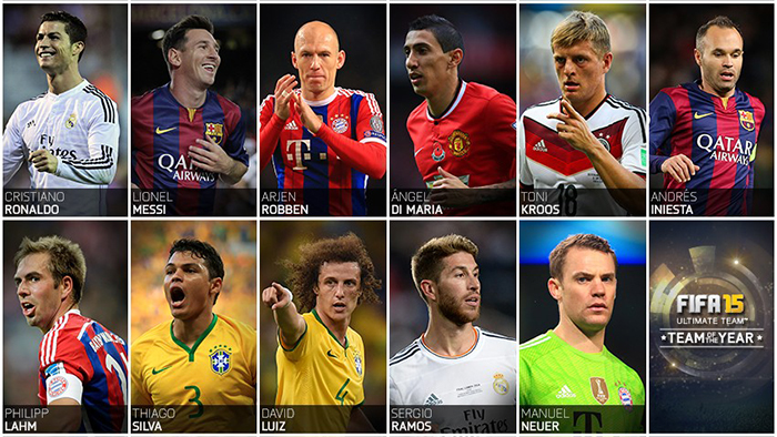 Team-of-the-Year FUT 15 TOTY: Team of The Year