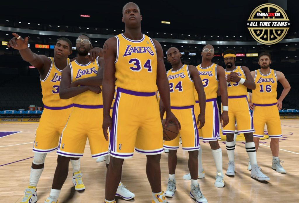 2K18-Lakers-1024x696 NBA 2K18: Historical NBA Franchise Teams