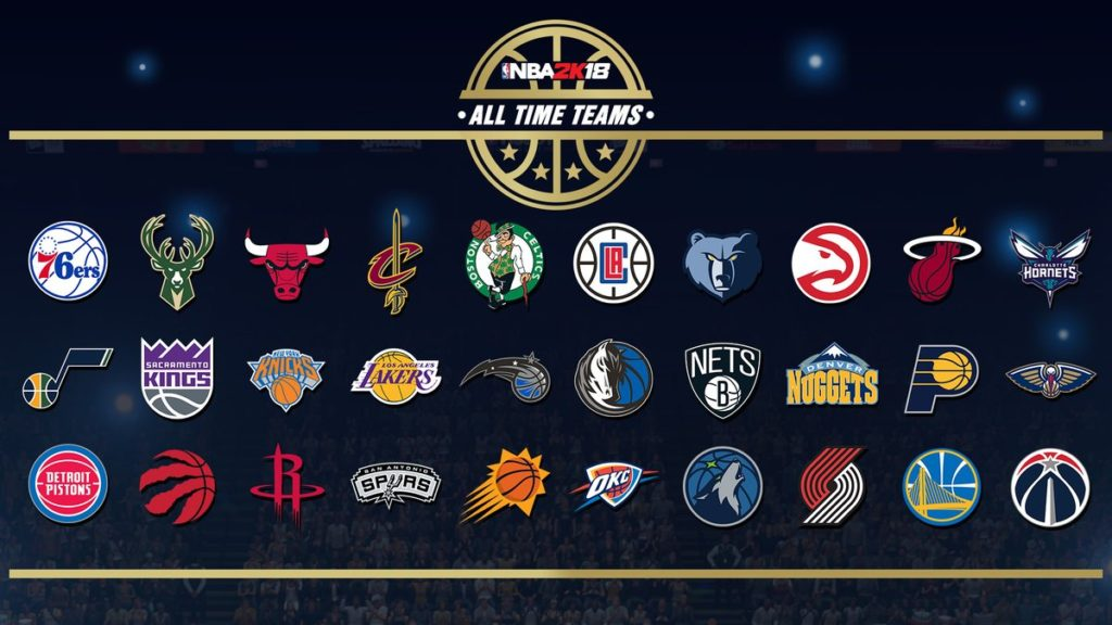 NBA 2K18: Historical NBA Franchise Teams