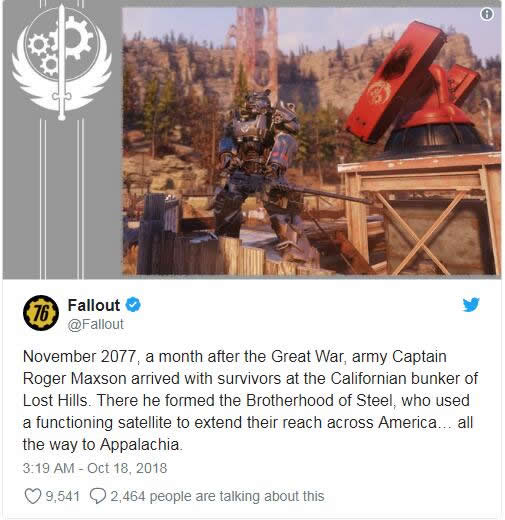 Fallout-76-tip How the Brotherhood of Steel Appear in Fallout 76